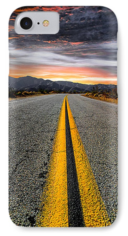 Desert Landscape IPhone 7 Case featuring the photograph On Our Way by Ryan Weddle