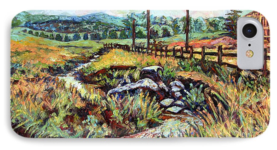 Landscape Paintings IPhone 7 Case featuring the painting Stroubles Creek by Kendall Kessler