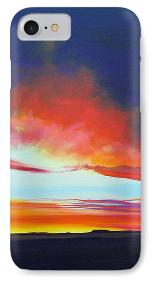 Landscape IPhone 7 Case featuring the painting The Long Way Home by Hunter Jay