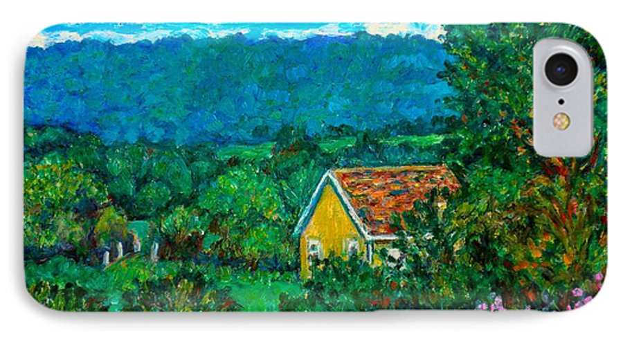 Landscape IPhone 7 Case featuring the painting 460 by Kendall Kessler