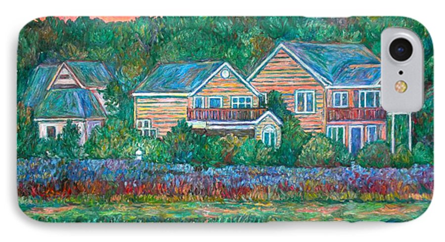 Landscape IPhone 7 Case featuring the painting Across The Marsh At Pawleys Island    by Kendall Kessler