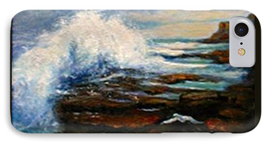 Seascape IPhone 7 Case featuring the painting After The Storm by Gail Kirtz