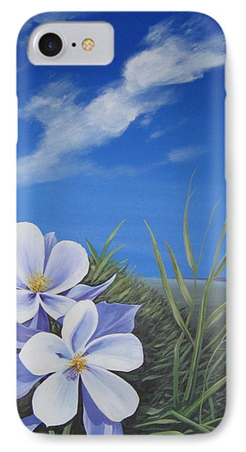 Landscape IPhone 7 Case featuring the painting Afternoon High by Hunter Jay