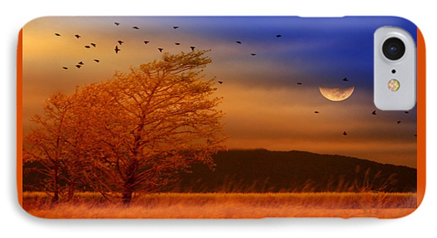 Landscape IPhone 7 Case featuring the photograph Against The Wind by Holly Kempe