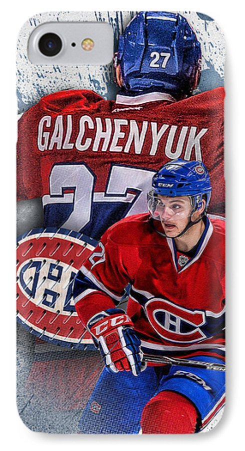 Alex Galchenyuk IPhone 7 Case featuring the digital art Galchenyuk Phone Cover 2 by Nicholas Legault