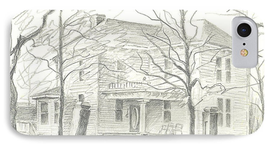 American Home Ii IPhone 7 Case featuring the drawing American Home II by Kip DeVore