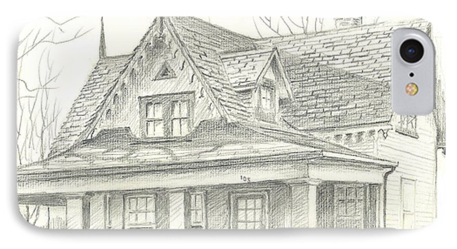 American Home IPhone 7 Case featuring the drawing American Home by Kip DeVore