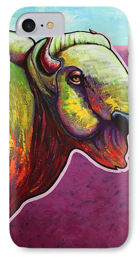 Wildlife IPhone 7 Case featuring the painting American Monarch by Joe Triano