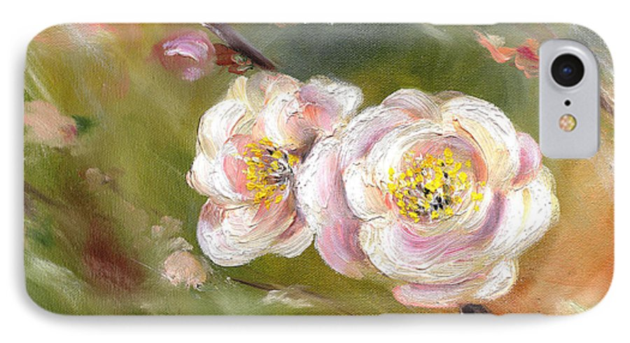 Flower IPhone 7 Case featuring the painting Anniversary by Hiroko Sakai