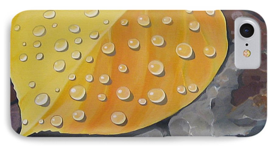 Aspen IPhone 7 Case featuring the painting Aspen Rain by Hunter Jay