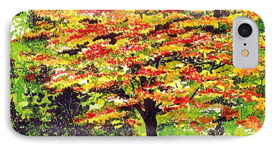 Fine Art IPhone 7 Case featuring the painting Autumn Splendor by Patricia Griffin Brett