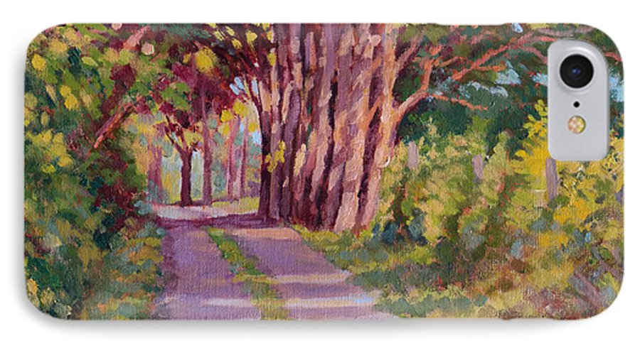 Road IPhone 7 Case featuring the painting Backroad Canopy by Keith Burgess