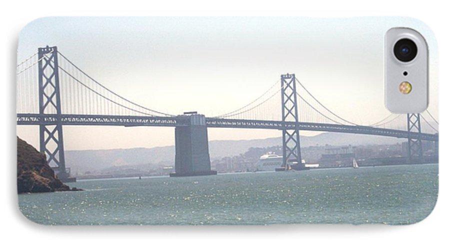 Bay Bridge IPhone 7 Case featuring the photograph Bay Bridge by Pharris Art