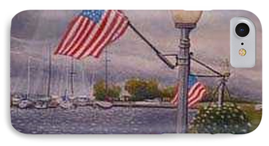 Rick Huotari IPhone 7 Case featuring the painting Bayfield On The 4th by Rick Huotari