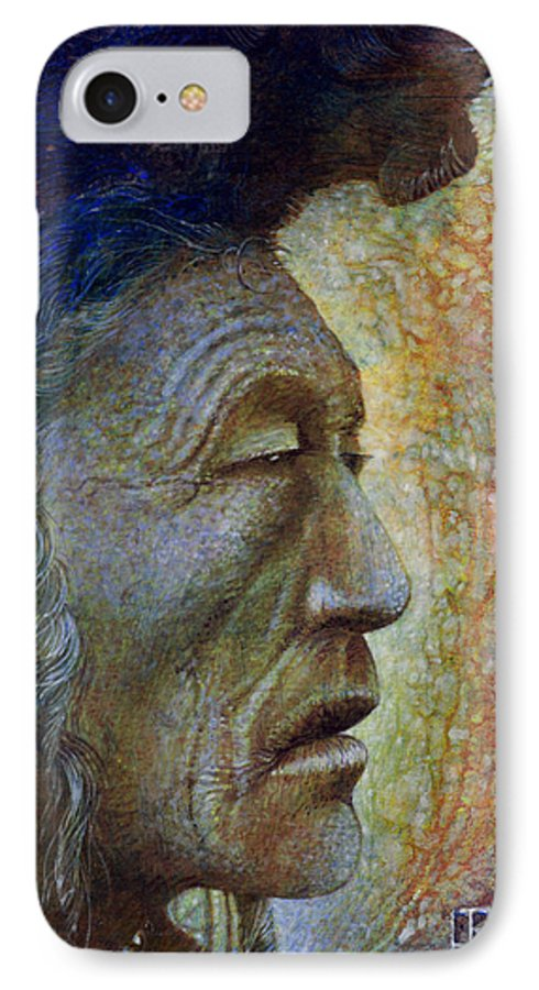 Bear Bull IPhone 7 Case featuring the painting Bear Bull Shaman by Otto Rapp