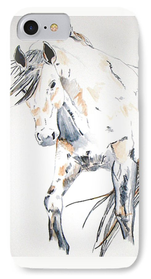 Horse IPhone 7 Case featuring the painting Beauty by Crystal Hubbard