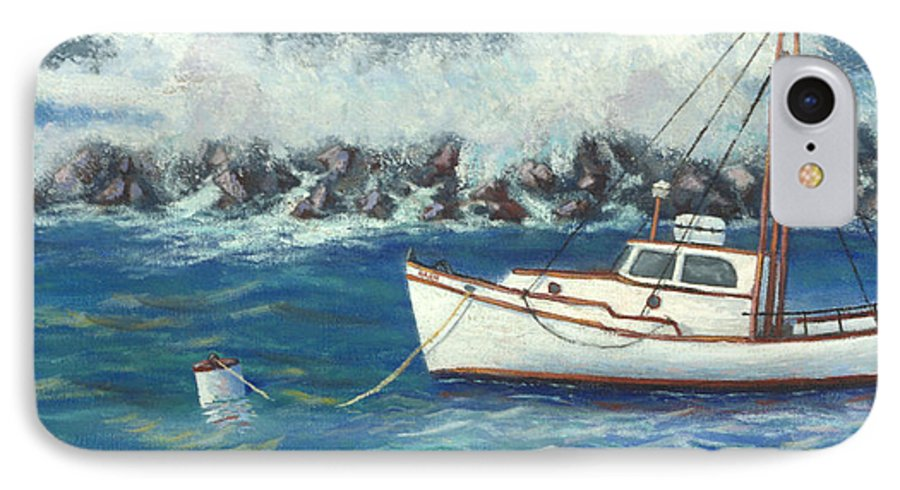 Ocean IPhone 7 Case featuring the painting Behind The Breakwall by Jerry McElroy