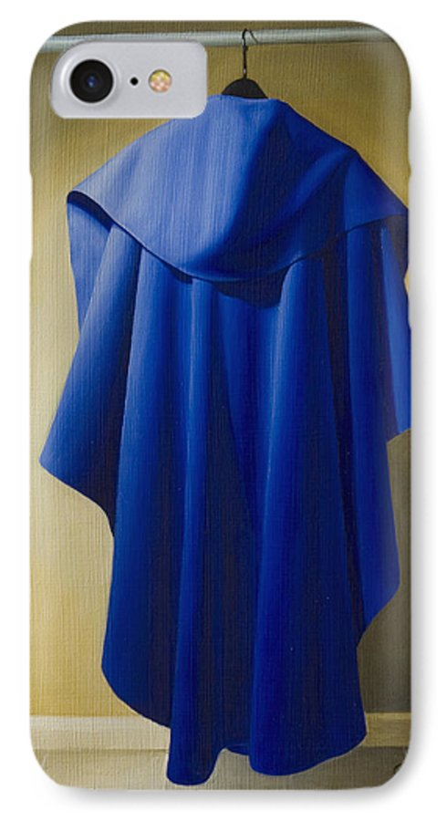 Realism IPhone 7 Case featuring the painting Blue Cape by Gary Hernandez