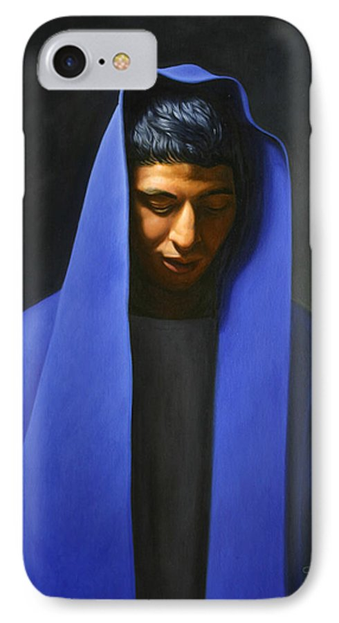 Blue IPhone 7 Case featuring the painting Blue by Gary Hernandez