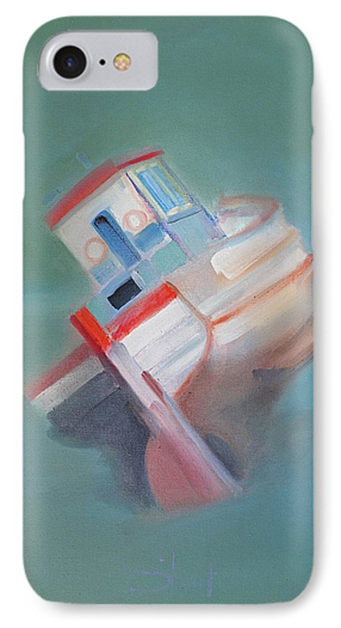 Fishing Boat IPhone 7 Case featuring the painting Boat Retired Tavira by Charles Stuart