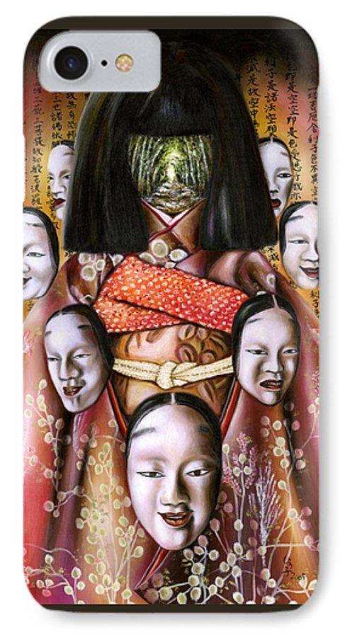 Japanese IPhone 7 Case featuring the painting Boukyo Nostalgisa by Hiroko Sakai
