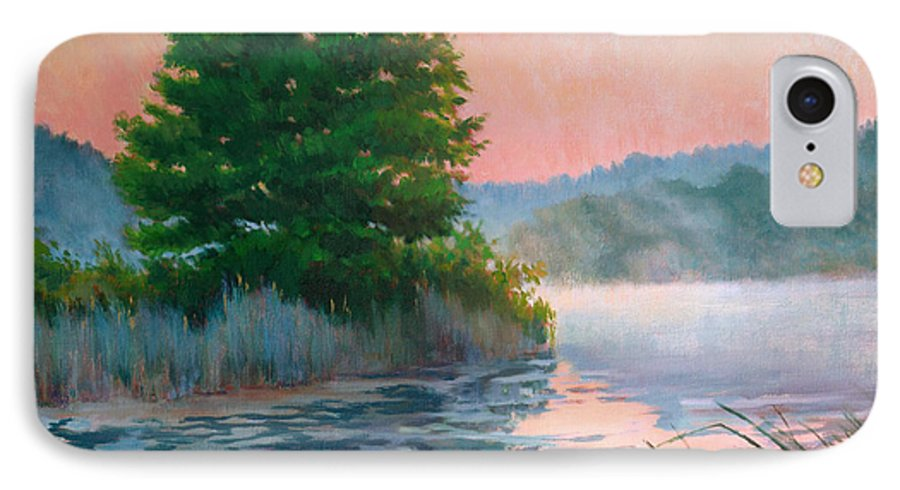 Impressionism IPhone 7 Case featuring the painting Break Of Day by Keith Burgess