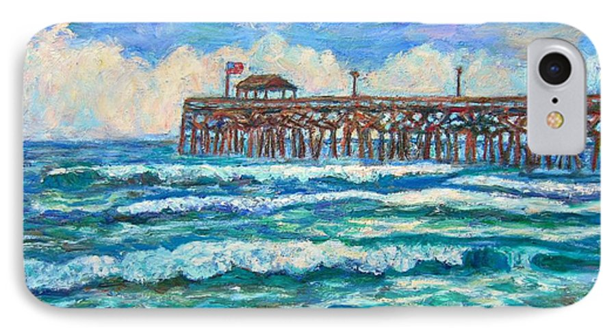 Shore Scenes IPhone 7 Case featuring the painting Breakers At Pawleys Island by Kendall Kessler