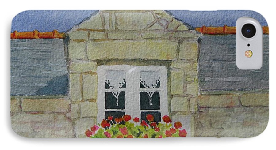 France IPhone 7 Case featuring the painting Bretagne Window by Mary Ellen Mueller Legault
