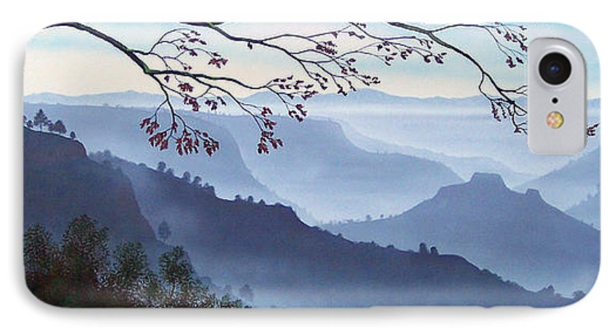 Mural IPhone 7 Case featuring the painting Butte Creek Canyon Mural by Frank Wilson