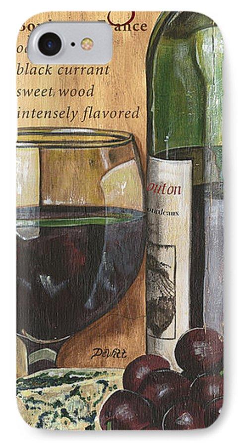 Cabernet IPhone 7 Case featuring the painting Cabernet Sauvignon by Debbie DeWitt