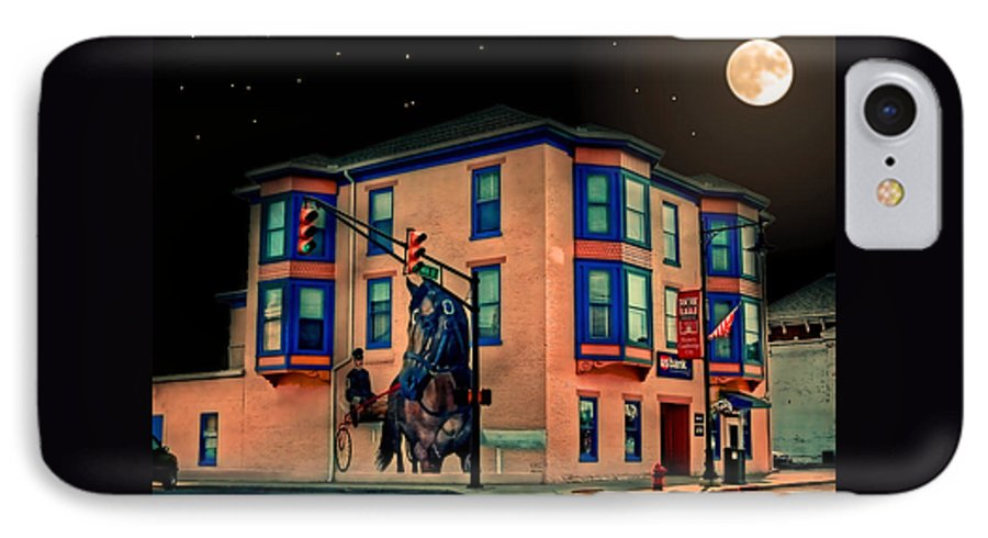 Cambridge IPhone 7 Case featuring the photograph Cambridge City At Night by Mark Orr
