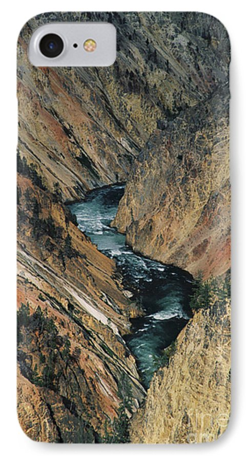 Yellowstone IPhone 7 Case featuring the photograph Canyon Jewel by Kathy McClure