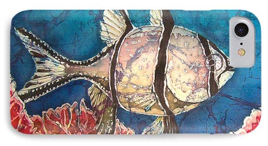 Cardinalfish IPhone 7 Case featuring the painting Cardinalfish by Sue Duda