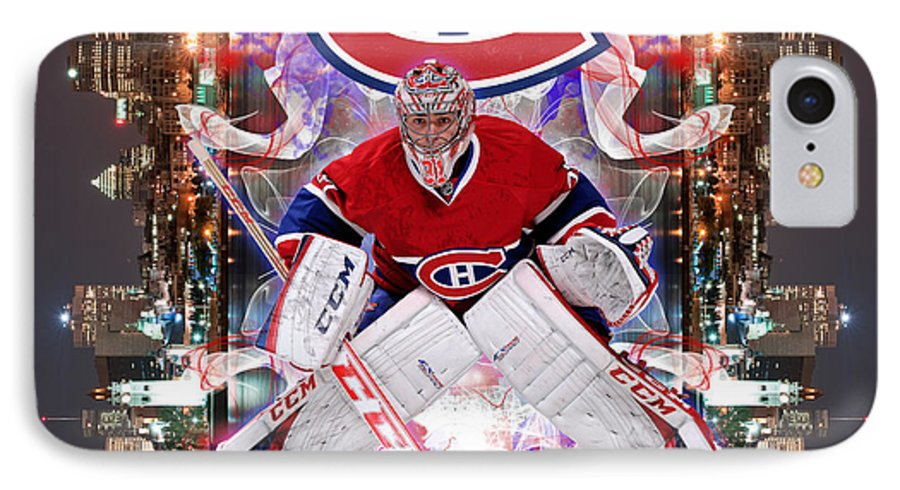 Carey Price IPhone 7 Case featuring the digital art Carey Price Poster by Nicholas Legault