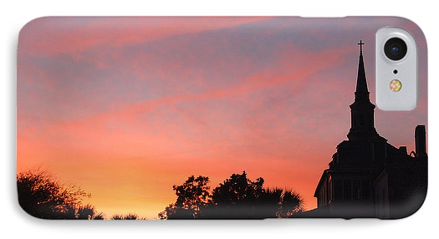Charleston IPhone 7 Case featuring the photograph Charleston At Dusk by Suzanne Gaff