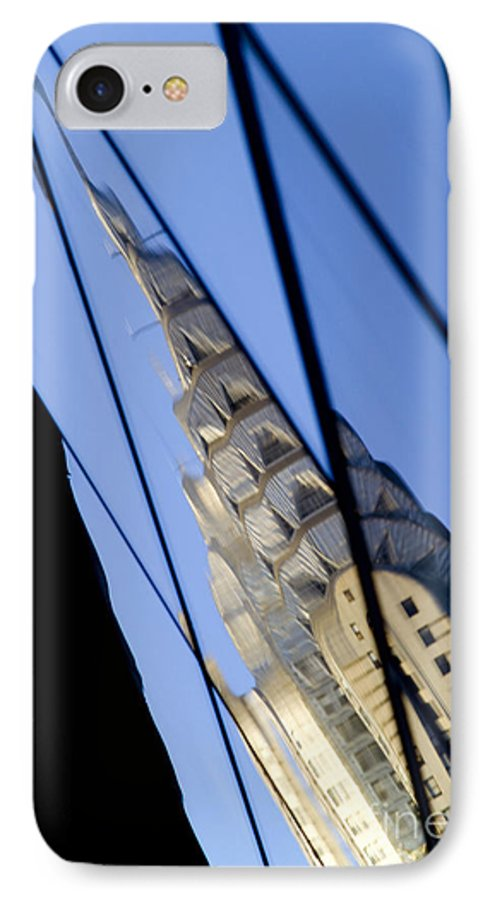 Chrysler IPhone 7 Case featuring the photograph Chrysler Building by Tony Cordoza