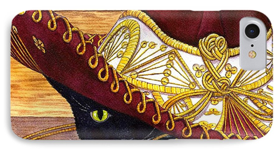 Cat IPhone 7 Case featuring the painting Cinco De Mayo by Catherine G McElroy