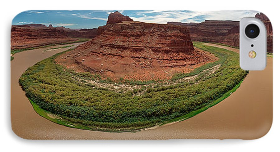 3scape Photos IPhone 7 Case featuring the photograph Colorado River Gooseneck by Adam Romanowicz