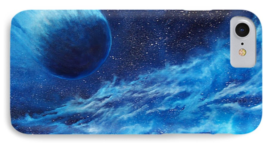 Astro IPhone 7 Case featuring the painting Comet Experience by Murphy Elliott