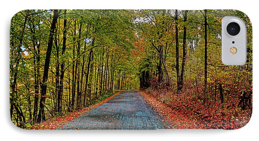 Autumn IPhone 7 Case featuring the photograph Country Lane In Autumn by Mark Orr