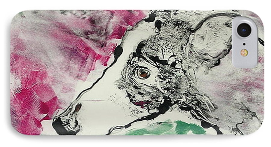 Greyhound IPhone 7 Case featuring the painting Cyrus by Cori Solomon
