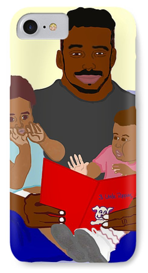 Dad IPhone 7 Case featuring the painting Daddy's Bundles by Pharris Art