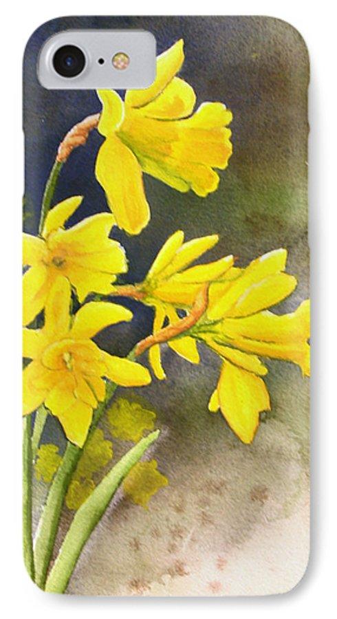 Rick Huotari IPhone 7 Case featuring the painting Daffodils by Rick Huotari