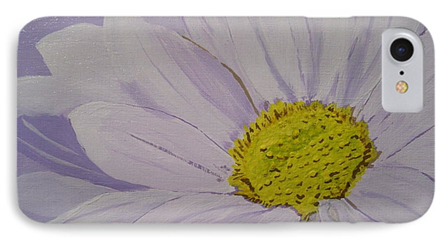 Daisy IPhone 7 Case featuring the painting Daisy by Anthony Dunphy