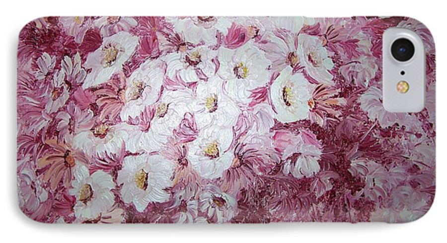 IPhone 7 Case featuring the painting Daisy Blush by Karin Dawn Kelshall- Best