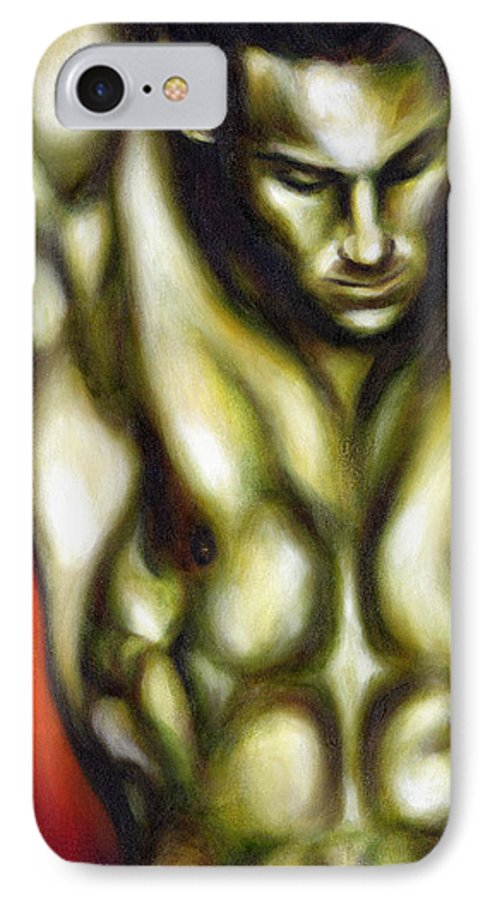 Man IPhone 7 Case featuring the painting Dancer One by Hiroko Sakai