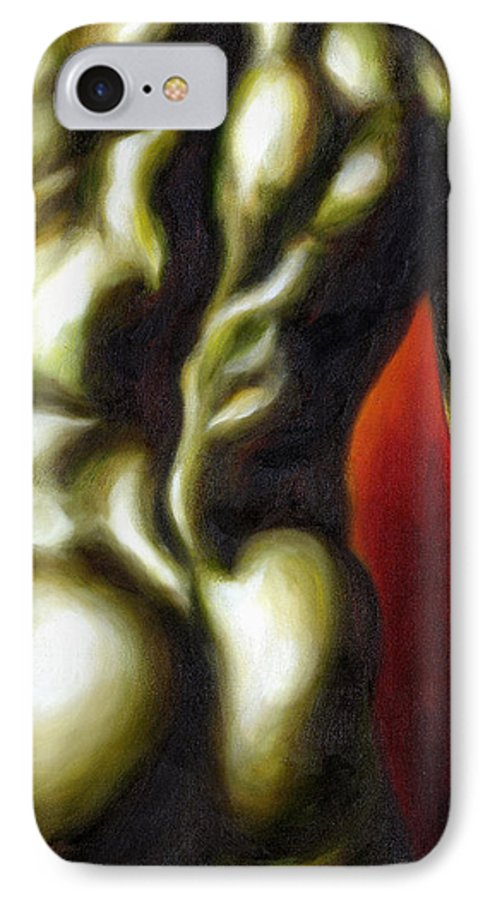 Man Nude Painting IPhone 7 Case featuring the painting Dancer Two by Hiroko Sakai