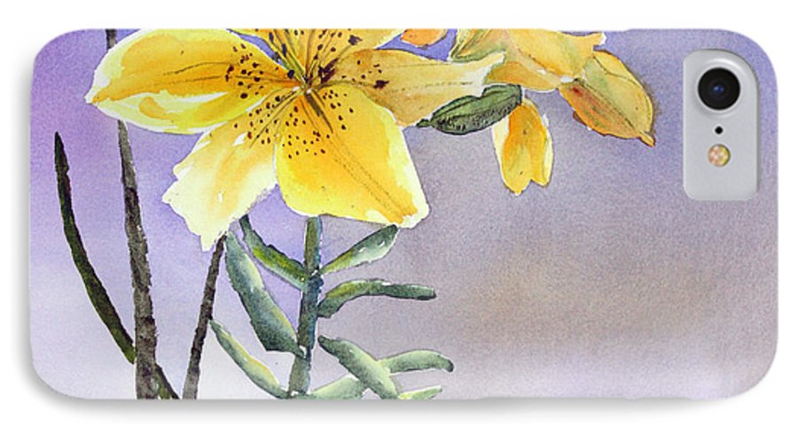 Lily IPhone 7 Case featuring the painting Daylilies by Patricia Novack