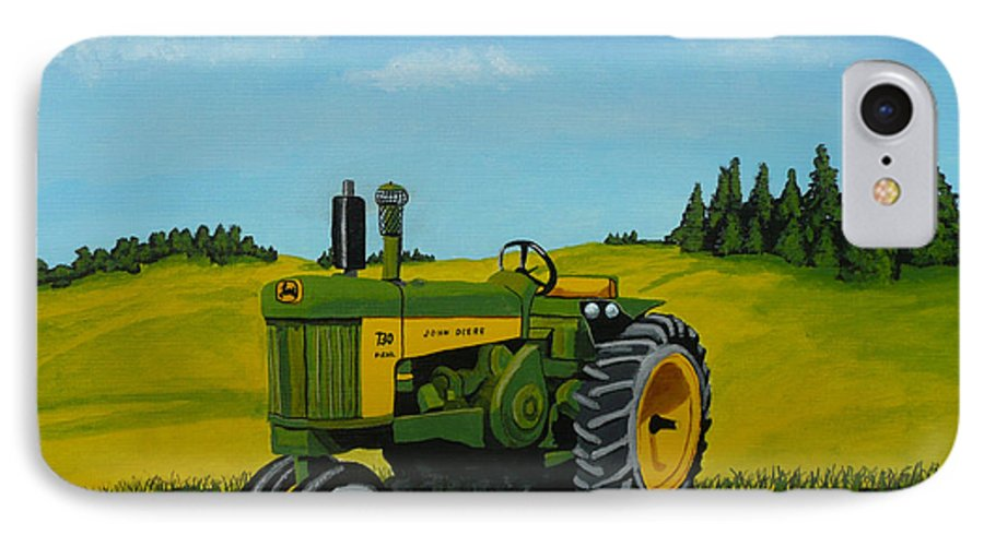 John Deere IPhone 7 Case featuring the painting Dear John by Anthony Dunphy