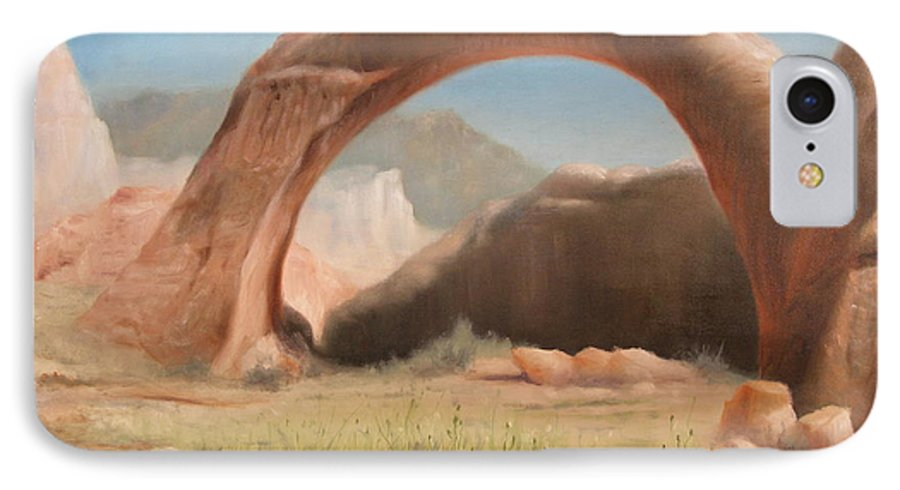 Realism IPhone 7 Case featuring the painting Desert Arch by Donelli DiMaria